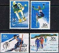 Australia 1984 Skiing Set Fine Used
