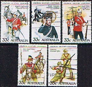 Stamps Australia 1985 Australian Military Uniforms Set Fine Used