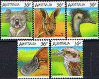 Australia 1986 Australian Wildlife Set Fine Mint
