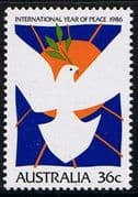 Australia 1986 International Peace Year Fine Mint