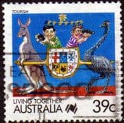 Australia 1988 Living Together Cartoons SG 1121b Fine Used