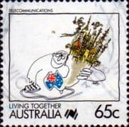 Australia 1988 Living Together Cartoons SG 1129 Fine Used