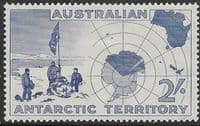 Australian Antarctic Territory 1957 SG 1 Expedition at Vestfold Hills and Map Fine Mint