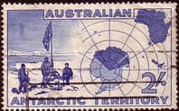 Australian Antarctic Territory 1957 SG 1 Expedition at Vestfold Hills and Map Fine Used