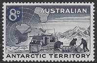 Australian Antarctic Territory 1959 SG 3 Shackleton Expedition Surcharged Fine Mint