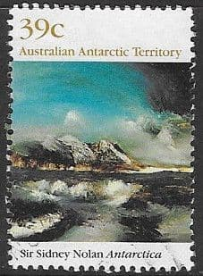Stamps Australian Antarctic Territory 1989 Landscape Paintings by Sir Sidney Nolan Set Fine Mint