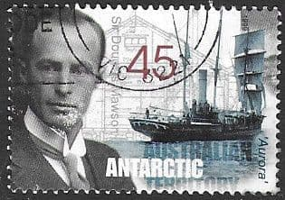 Stamps Australian Antarctic Territory 1997 Research Expeditions Tuning a radio Fine Used SG 118 Scott L103