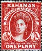 Bahamas 1863 Queen Victoria SG 20 Fine Unused