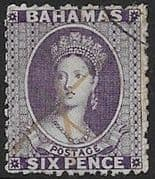 Bahamas 1863 Queen Victoria SG 31 Fine Used
