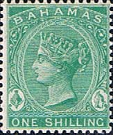 Victorian Stamps Bahamas 1882 Queen Victoria SG 40 Fine Used Scott 24