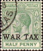 Bahamas 1918 War Tax Overprint SG 91 Fine Used