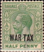 Bahamas 1918 War Tax Overprint SG 96 Fine Used