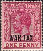Bahamas 1918 War Tax Overprint SG 97 Fine Mint