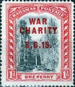 Bahamas 1919 War Charity Overprint SG 101 Fine Mint