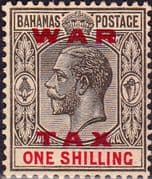 Bahamas 1919 War Tax Overprint SG 104 Fine Mint