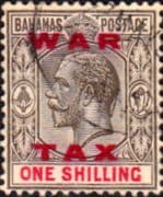 Bahamas 1919 War Tax Overprint SG 104 Fine Used
