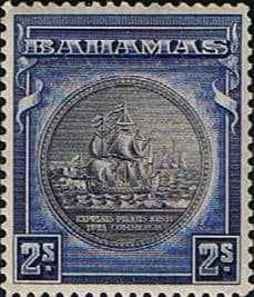 Stamps of Bahamas 1931 Seal of Bahamas SG 131b Fine Mint Scott 90