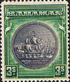 Stamps of Bahamas 1931 Seal of Bahamas SG 132a Fine Mint Scott 91