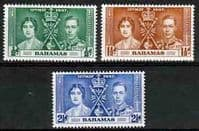 Bahamas 1937 King George VI Coronation Set Fine Mint