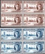 Bahamas 1946 King George VI Victory Set in Blocks of 4 Fine Mint