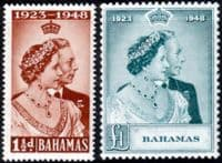 Bahamas 1948 King George VI Royal Silver Wedding Set Fine Mint
