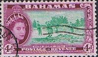 Bahamas 1954 Water Sports Skiing SG206 Fine Used