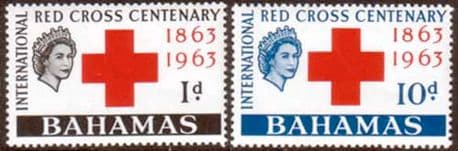 Stamp Stamps Bahamas 1963 Red Cross Centenary Fine Mint