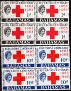 Bahamas 1963 Red Cross Centenary Set Fine Mint Blocks of 4