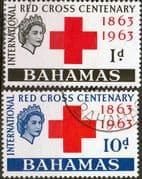 Bahamas 1963 Red Cross Centenary Set Fine Used