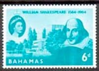 Bahamas 1964 William Shakespeare Fine Mint