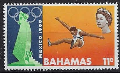 Stamps Bahamas 1968 Mexico Olympic Games SG 319 Fine Used