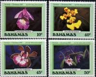 Bahamas 1987 Christmas Orchids Set Fine Mint