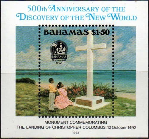 Bahamas 1992 Discovery of America by Columbus Miniature Sheet Fine Mint