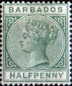 Barbados 1882 Queen Victoria Head SG 90 Fine Mint