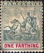 Barbados 1892 Seal of the Colony SG 105 Fine Used