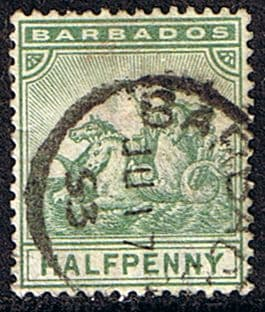 Barbados 1892 Seal of the Colony SG 106 Fine Used