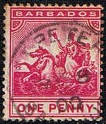Barbados 1892 Seal of the Colony SG 107 Fine Used