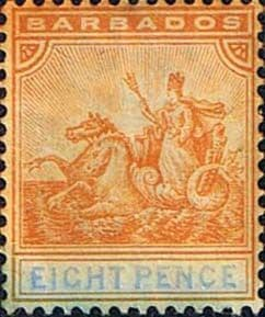 Stamps of Barbados 1892 Seal of the Colony SG 112 Fine Mint Scott 77
