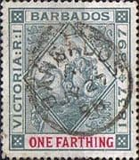 Barbados 1897 Diamond Jubilee SG 116 Fine Used