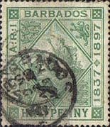 Barbados 1897 Diamond Jubilee SG 117 Fine Used