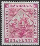 Barbados 1897 Diamond Jubilee SG 118 Fine Mint