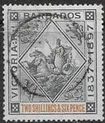 Barbados 1897 Diamond Jubilee SG 124 Fine Mint