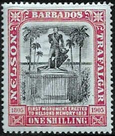 Stamps of Barbados 1906 Nelson Centenary SG 148 Fine Used Scott 105