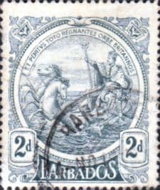 West Indies Stamps Barbados 1916 Seal of the Colony SG 184 Fine Used Scott 130