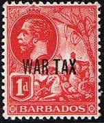 Barbados 1917 War Tax Overprint SG 197 Fine Mint