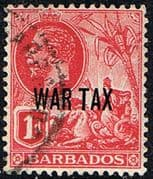 Barbados 1917 War Tax Overprint SG 197 Fine Used