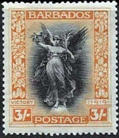 Barbados 1920 Victory SG 211 Fine Mint