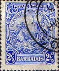 Barbados 1925 Seal of the Colony SG 233ab Fine Used