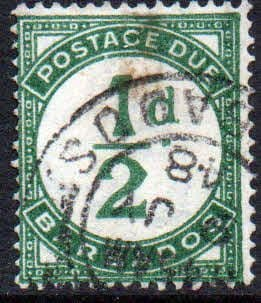 Barbados 1934 Post Due SG D1 Fine Used