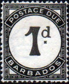 Barbados 1934 Post Due SG D2 Fine Mint